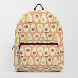 Watercolor avocado in pink Backpack