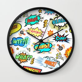 Modern Comedy Pattern Art Prints Wall Clock