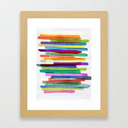 Colorful Stripes 1 Framed Art Print