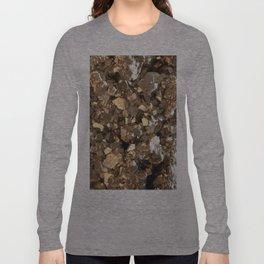 Golden Pyrite Mineral Long Sleeve T-shirt