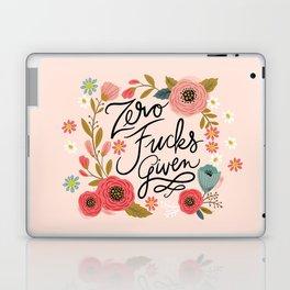 Pretty Swe*ry: Zero Fucks Given, in Pink Laptop & iPad Skin