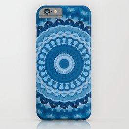 blue mandala 1 iPhone Case