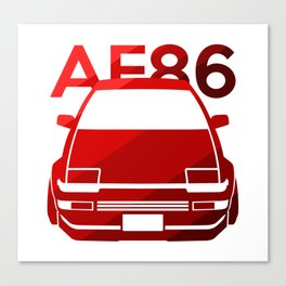Toyota AE86 Hachi Roku - classic red - Canvas Print