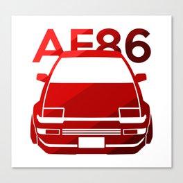 Toyota AE86 Hachi Roku - classic red - Canvas Print