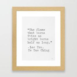 Lao Tzu, philosophy, quote. Framed Art Print