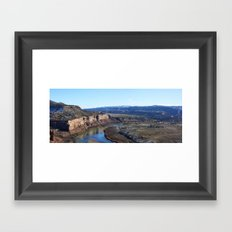 Horsethief Canyon from Lion's Loop Framed Art Print