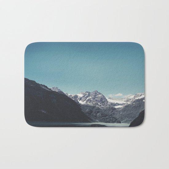 turquoise mountain lake Bath Mat