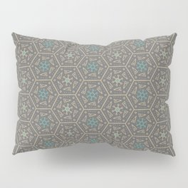 Going round and round - Orange/Taupe/Teal Pillow Sham