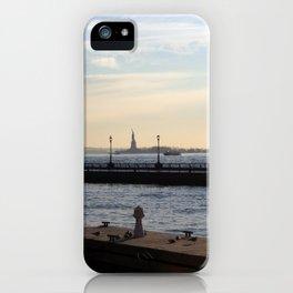 Hudson River meets Liberty Statue iPhone Case
