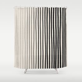 Black Vertical Lines Shower Curtain
