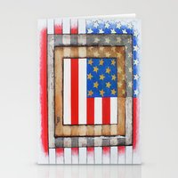 american flag Stationery Cards featuring American Flag by Steve Hester