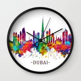 Dubai UAE Skyline Wall Clock