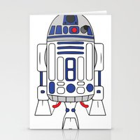 r2d2 Stationery Cards featuring R2D2 by Gyunjoo Kim