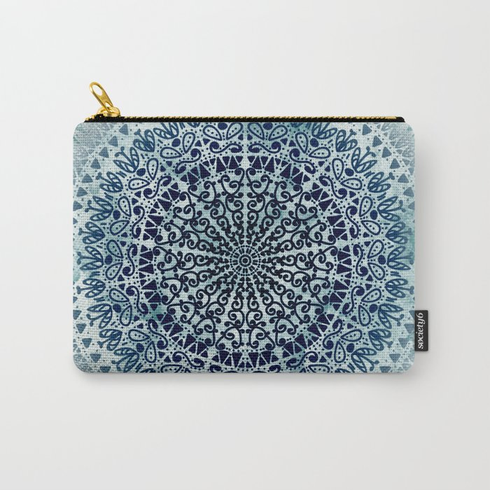 BLUE ICELAND MANDALA Carry-All Pouch
