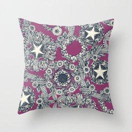 cirque fleur grape Throw Pillow