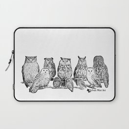 Owls - Ink Drawng Laptop Sleeve