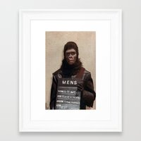 planet of the apes Framed Art Prints featuring Planet of the Apes  by Rotton Cotton Candy