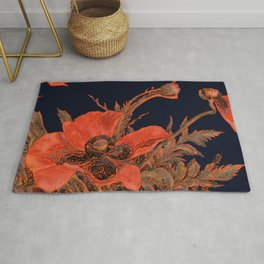 All the Poppies of the Fields Rug