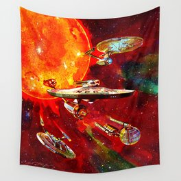 StarShips of the Federation Wall Tapestry