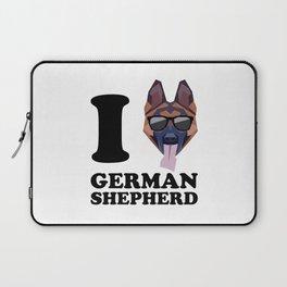 I Love German Shepherd modern v1 Laptop Sleeve