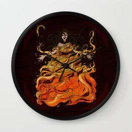 Girl on Fire Wall Clock