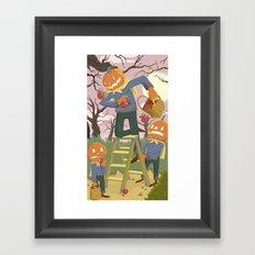 Halloween Family Fun Framed Art Print