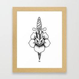 Black & Grey Dagger Framed Art Print