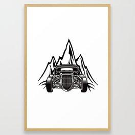 Hotrod with Bergen Custom Car Ami Car Car Framed Art Print