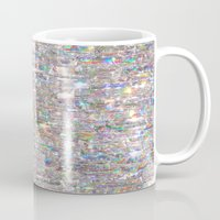 holographic Mugs featuring To Love Beauty Is To See Light (Crystal Prism Abstract) by soaring anchor designs