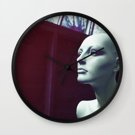 Mannequin in profile Wall Clock