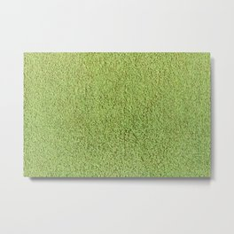 Phlegm Green Shag Pile Carpet Metal Print