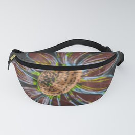 psychedelic blooming flowers Fanny Pack
