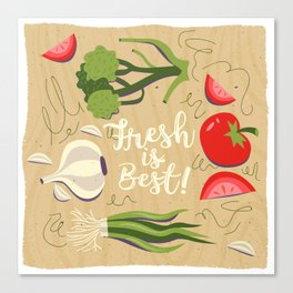 Fresh Is Best In The Kitchen Canvas Print