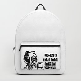 Love is in the air gas mask Backpack