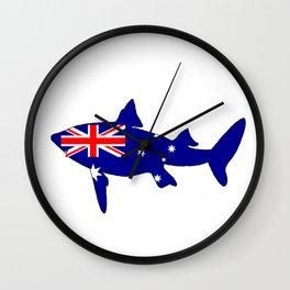 Australian Flag - Shark Wall Clock