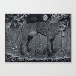 The Ominous Moon Canvas Print