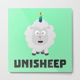 Unicorn Sheep Unisheep B4txe Metal Print