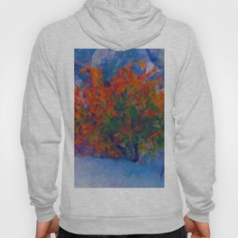 Abstract Autumn Tree Artistic Painting Hoody