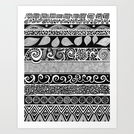 Tribal Evolution Art Print