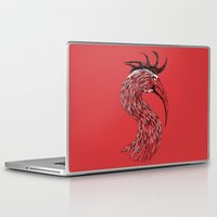 fierce Laptop & iPad Skins featuring Fierce Raptor by Michal Malacek