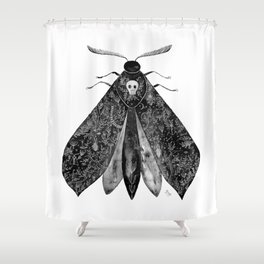 The Moth and All His Friends Shower Curtain