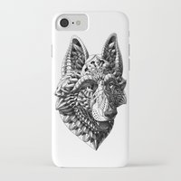 german shepherd iPhone & iPod Cases featuring German Shepherd by BIOWORKZ