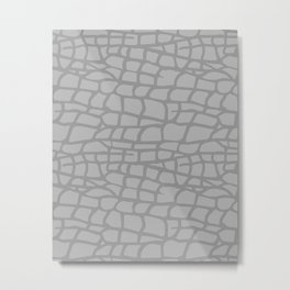 Gray Elephant Skin - Wild Animal Metal Print