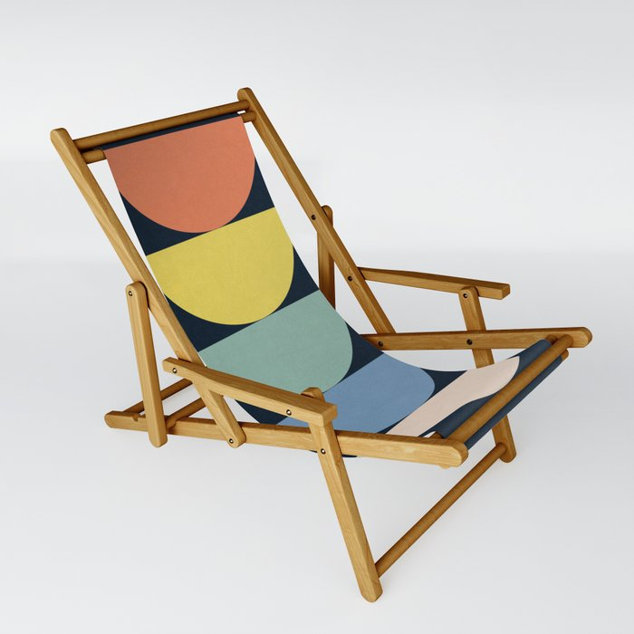 Abstract Flower Palettes Sling Chair
