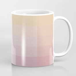 Pixel Gradient between Soft Yellow and Grayish Red Coffee Mug
