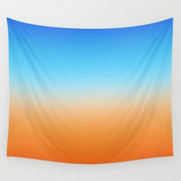 Blue and Orange Ombre Wall Tapestry
