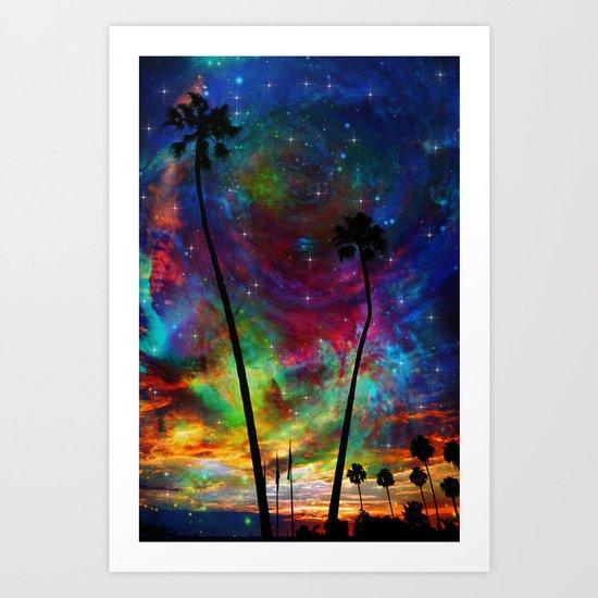 Magical Palms Art Print