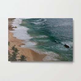 Marvelous Marbled Waves Metal Print