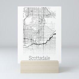 Map of the City Neck Gaiter Scottsdale Arizona Map Neck Gator Mini Art Print
