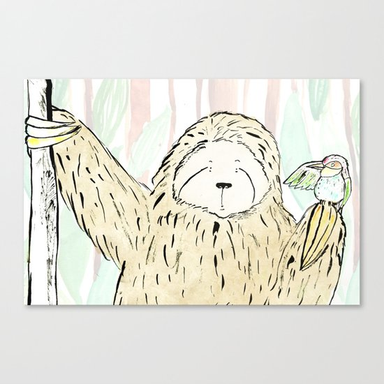 A Little Birdy Told Me Canvas Print